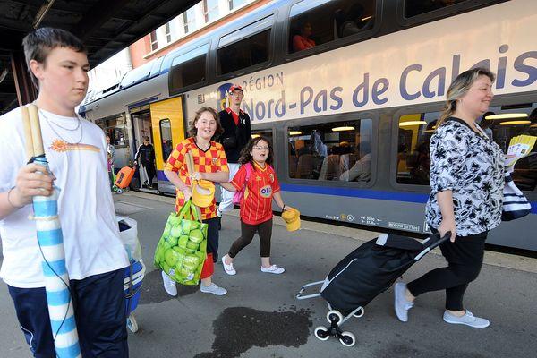 Premier jour pour le TER mer au départ de Lille le 7 juillet 2012.