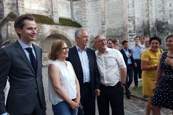 Guillaume Larrivé et André Villiers lors du second tour des législatives le 18 juin 2017