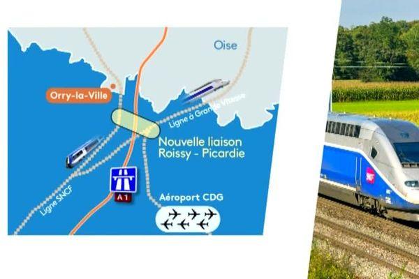 Une portion de 6 à 7 kilomètres devrait permettre de relier Paris à Amiens en TGV d'ici 2025.