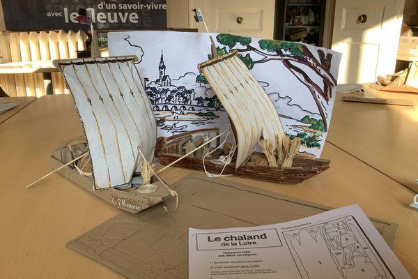 En 20 mn, un élève peut construire sa maquette d'un bateau de Loire