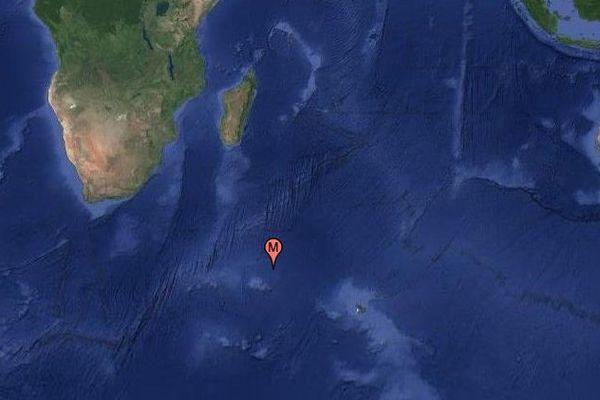 La position à 17h GMT du Marion Dufresne qui est sur le point d'entrer en contact visuel avec le bateau de Kito de Pavant.