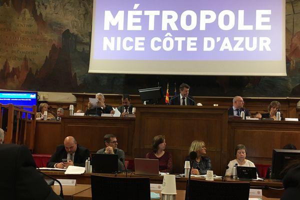 Archive du Conseil métropolitain en 2019.