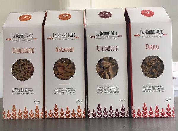 Les quatre variétés de pâtes complètes de Franck Dumoutier.