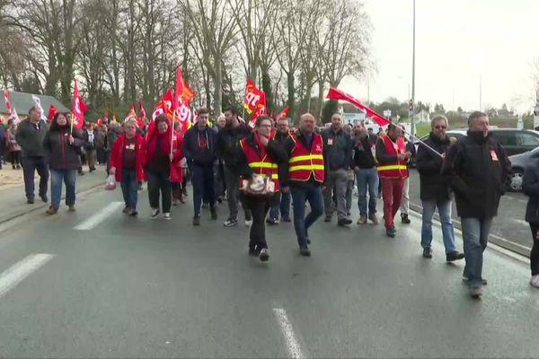 Mobilisation contre les retraites à Châtellerault.