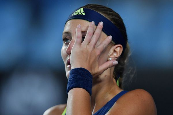 Kristina Mladenovic a subi sa quinzième défaite d'affilée au premier tour de l'Open d'Australie.