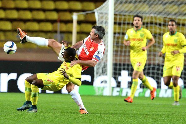 Football Championnat de France de ligue 1 - Monaco contre Nantes Toulalan contre Iloki - MONACO LE 21/11/15