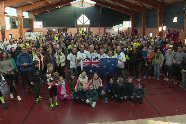 Les participants à l'issue de la course, ce samedi 18 janvier à Vignacourt.