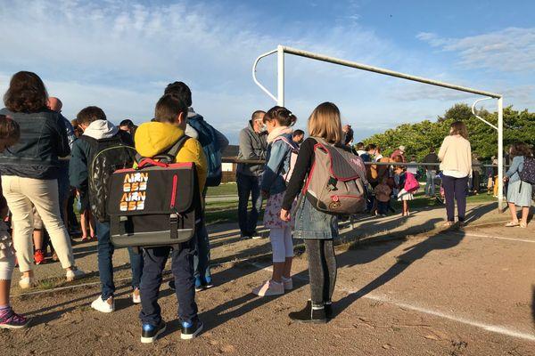 La rentrée scolaire à Saint-Etienne-de-Montluc, près de Nantes, le 1er septembre 2020