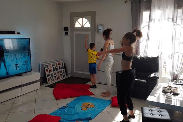 Activité sport dans la famille d'Aurore