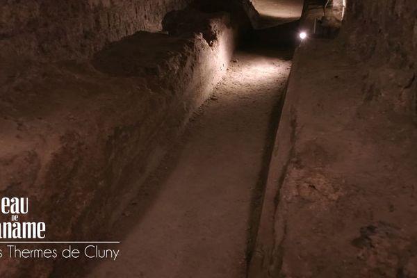Thermes gallo-romains de Cluny : chauffage par le sol appelé Hypocauste