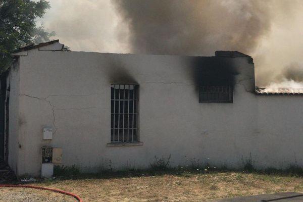 intervention des pompiers à Lespinasse
