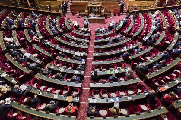 L'hémicycle du Sénat en juin 2020.
