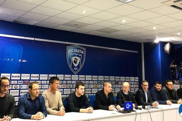 Les 10 membres du conseil d'administration de la société coopérative d'intérêt collectif du sporting club de Bastia sont entrés en fonction vendredi 31 janvier.