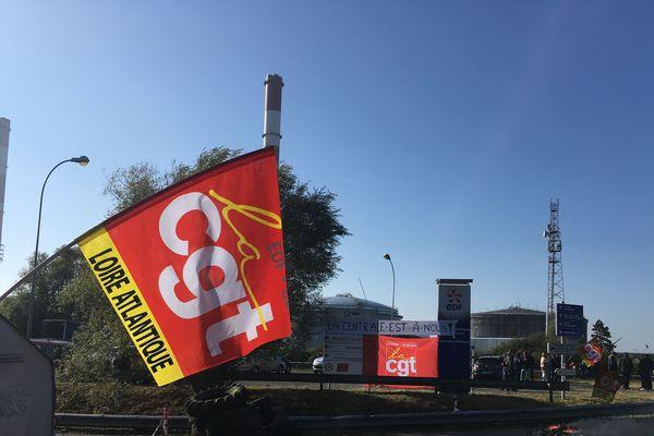 Mouvement de grève à la centrale de Cordemais. Mars 2018