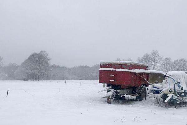 """Les Ardennes restent, avec l'Aveyron, le seul département encore placé en vigilance orange """"neige et verglas"""" à midi ce 30 janvier 2019"""