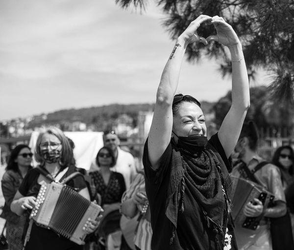 """Nice, le 25 avril, Alexandra Fuentes danseuse et organisatrice du flash mob pour """"danser encore"""""""