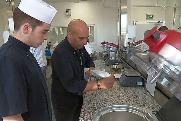 Montpellier - la classe pâtisserie du CFA - septembre 2018.