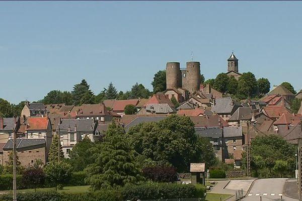 Le village de Crocq en Creuse