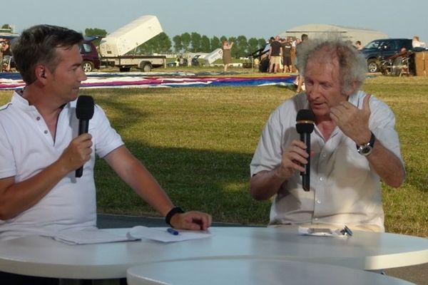 Thierry Gelhaye et Gérard Feldzer, consultant en aéronautique