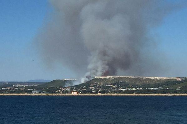 Le feu a déjà parcouru 4 hectares de végétation