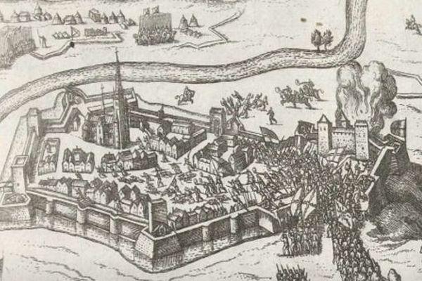 L'entrée des Espagnols dans Doullens en 1595.