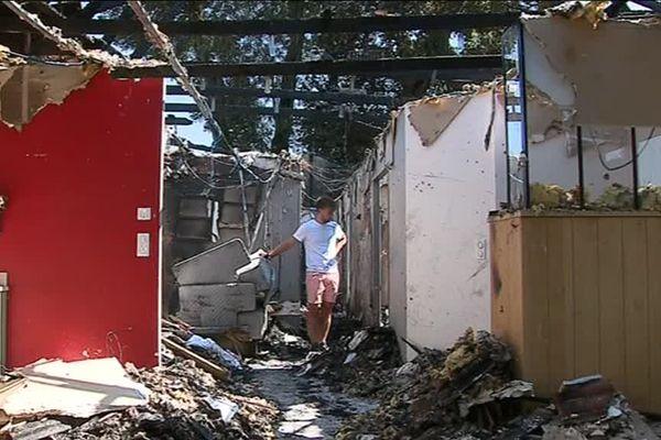 Si la famille propriétaire de la maison est saine et sauve, leur domicile, en revanche, est détruit