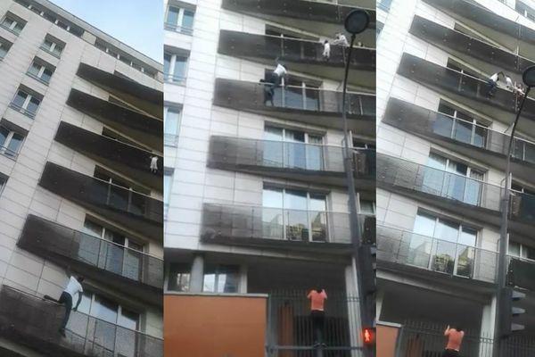 Le sauvetage d'un enfant dans le 18ème arrondissement de Paris.
