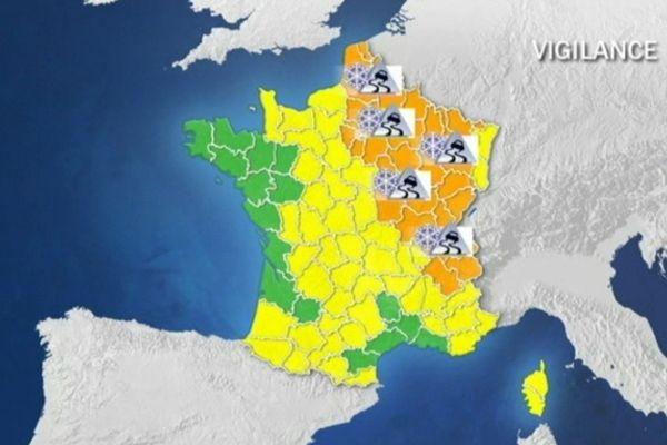 Carte vigilance Meteo France (06/12/2012)