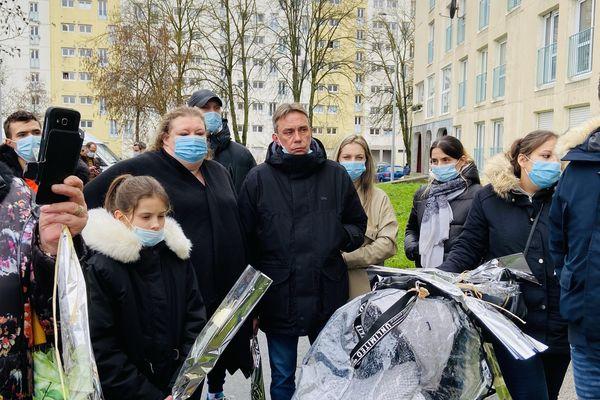 L'hommage a Mathéo Pégard ce samedi 30 janvier, bouleversé par la remise en liberté de l'un des suspects.