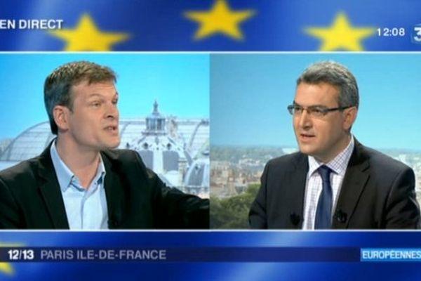 """Balas(PS): """"Marine Le Pen ne fait rien au parlement europeen"""" /Chauprade(FN): """"Vous fuyez le bilan de l'UMPS"""""""