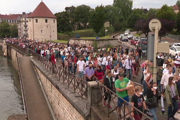 Samedi 24 juillet 2021, manifestation à Besançon contre la vaccination