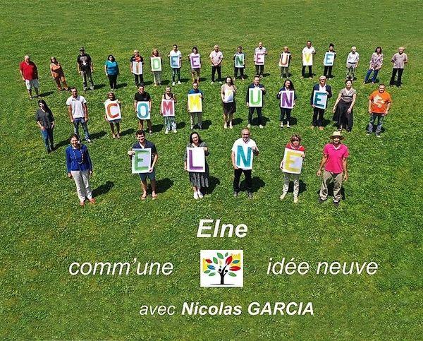 Affiche de campagne de la liste du nouveau maire d'Elne, Nicolas Garcia.
