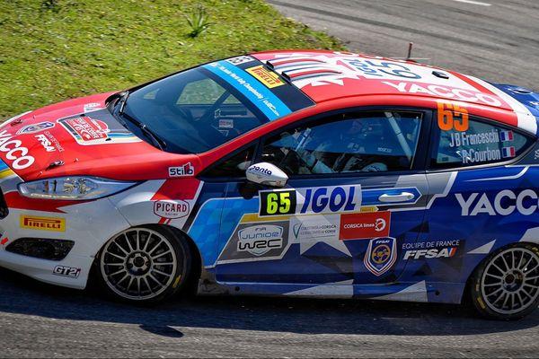 WRC/Tour de Corse 2018 - La Ford Fiesta R2T de Jean-Baptiste Franceschi et Romain Courbon, 18ème place au général.