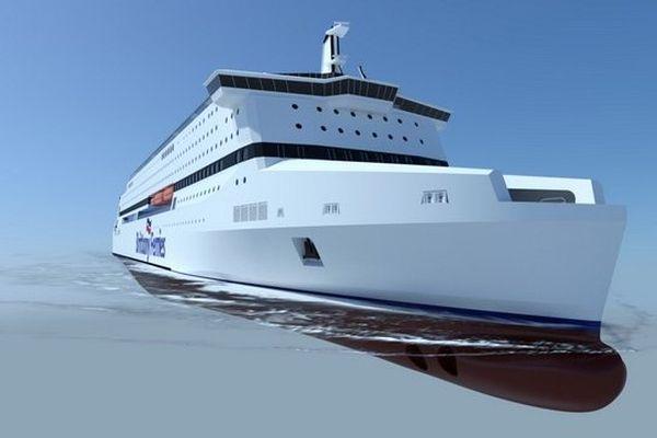 Brittany Ferries a passé commande d'un nouveau ferry au gaz naturel liquéfié aux chantiers navals STX de Saint-Nazaire