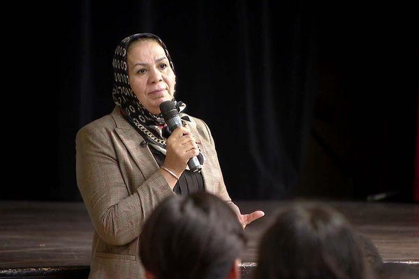 Latifa Ibn Ziaten a rencontré les élèves du collège Jacques Prévert à Gaillard en Haute-Savoie.