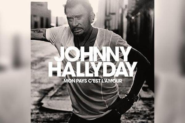 """La pochette du dernier album de Johnny Hallyday, """"Mon pays c'est l'amour""""."""