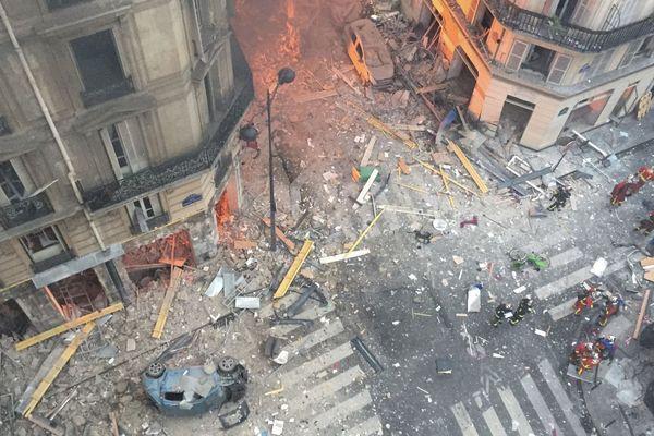 L'explosion rue de Trévise, le 12 janvier dernier.