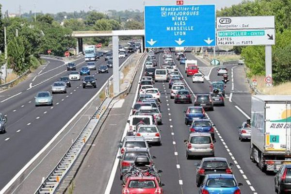 Embouteillages à Montpellier. Archives.