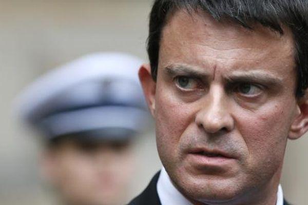Le ministre de l'Intérieur, Manuel Valls, le 5 octobre 2012 place Beauvau à Paris - photo Kenzo Tribouillard - Afp