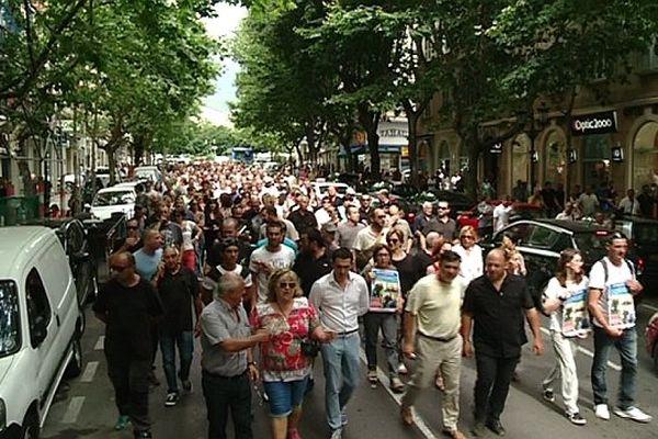 Manifestation des socioprofesionnels lundi 6 juillet à Bastia