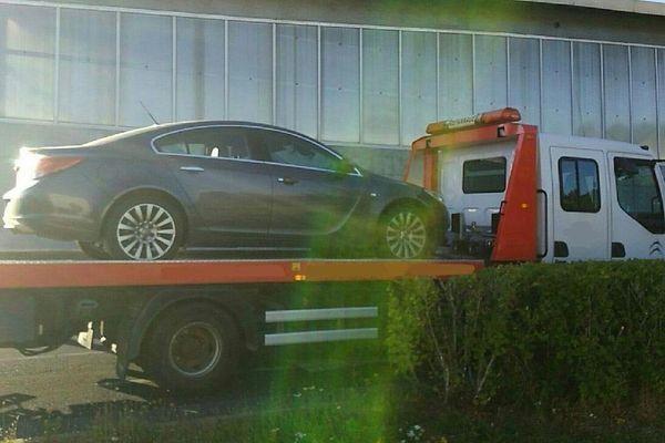 L'une des voitures contrôlées en très grand excès de vitesse sur l'A75 en Lozère le 20 août 2021.