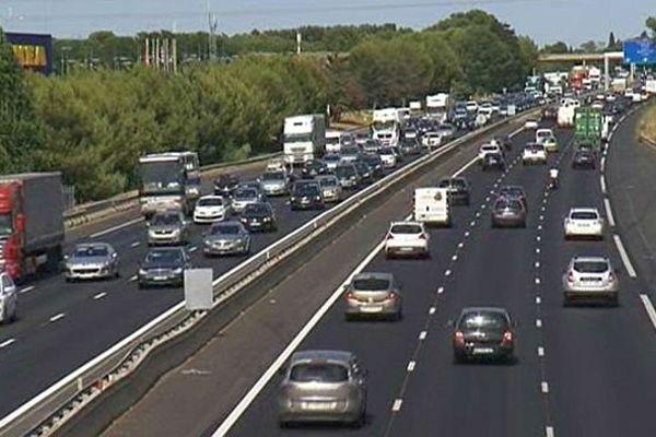 A.9 : la circulation autour de Montpellier - août 2013.