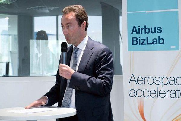 Fabrice Brégier, Président et directeur exécutif d'Airbus, lors de la présentation du Bizlab.