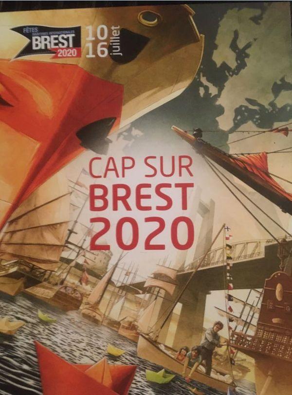 L'affiche de l'édition de Brest 2020 : le dessinateur JAVA a été choisi par le public pour la réaliser.