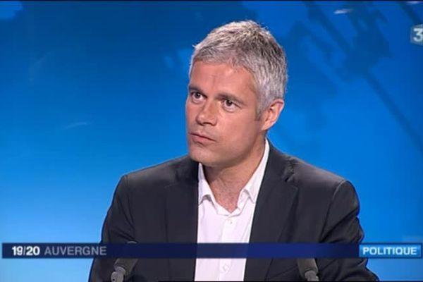 Laurent Wauquiez, tête de liste Les Républicains aux élections régionales en Auvergne-Rhône-Alpes en décembre 2015.