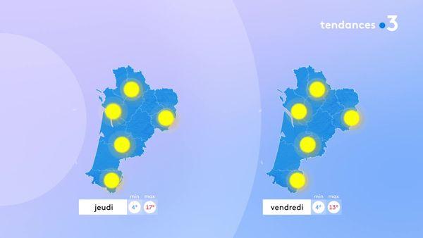Le soleil s'imposera encore jeudi et vendredi mais avec une baisse des températures en fin de semaine.