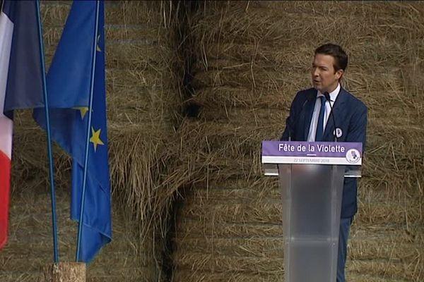 Guillaume Peltier, vice-président des Républicains (LR) - Fête de la Violette - Souvigny-en-Sologne - 22 sept 2018