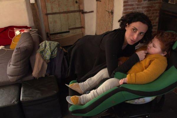Elodie, la maman de la petite Andréa