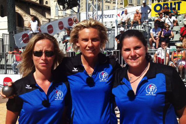 Angélique Papon, Ludivine D'Isidoro et Audrey Bandiera.