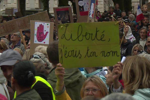 """Près de 4000 personnes ont défilé dans les rues de Pau criant """"Liberté ! Liberté ! Liberté !"""""""